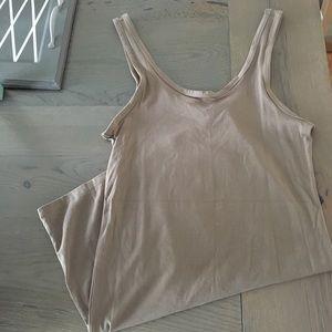 H&M Taupe Stretch Tank Dress